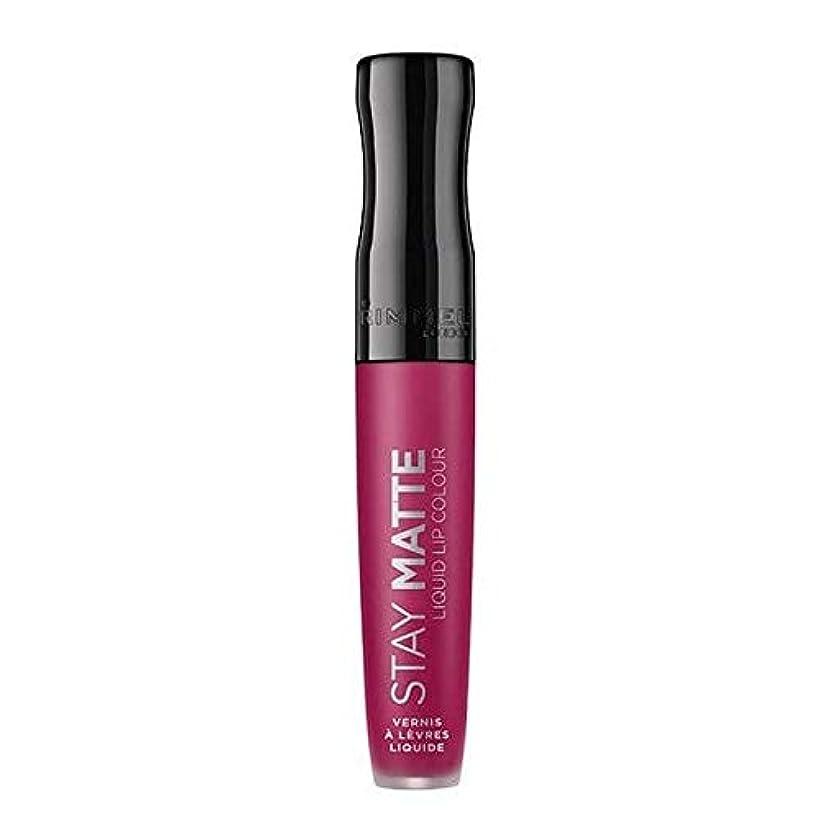 神秘的な割合雄弁な[Rimmel ] リンメルステイマット液状口紅ハートビート820 - Rimmel Stay Matte Liquid Lipstick Heartbeat 820 [並行輸入品]