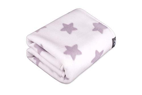 Lusso coperta per bebè, in morbido pile per carrozzina, lettino, 80cm x 90cm, made in Europe, certificato Oeko-Tex