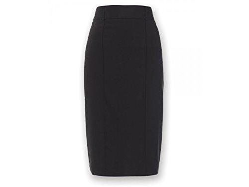 Alexandra STC-NF14BK-20S Icona rechte rok, eenkleurig, 77% polyester/21% viscose/2% elastaan, kort, maat 20, zwart