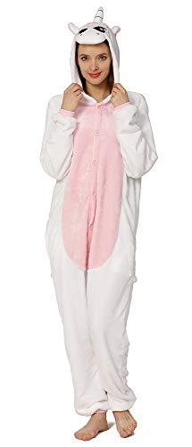 Yimidear® Unisex Cálido Pijamas para Adultos Cosplay Animales de Vestuario Ropa de Dormir Halloween y Navidad(S, Unicornio)