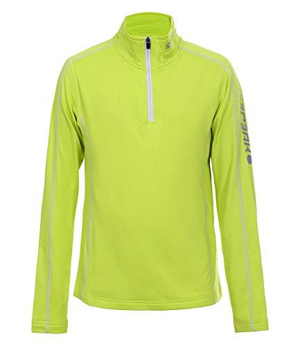 Icepeak Kinder Skipullover Funktionsshirt Thermoshirt Half Zip Robin Jr 4-51 712 584, Farbe:Gelb, Größe:110, Artikel:-505 Aloe