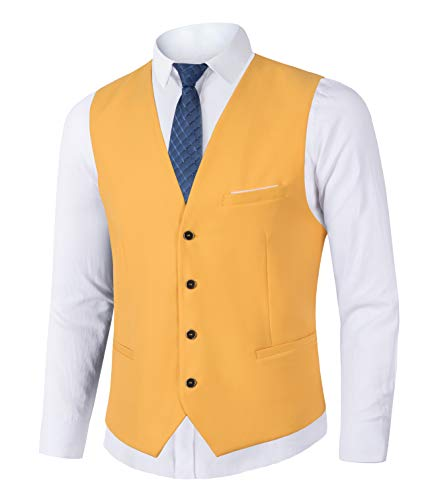 Yingqible Mens Suits Taillejassen Casual Slim Fit Skinny Bruidsjurk Vest Mouwloze Tops Zakelijke pak Gilet
