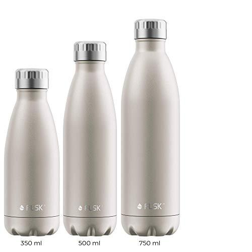 FLSK Das Original New Edition Edelstahl Trinkflasche – Kohlensäure geeignet | Die Isolierflasche hält 18 Stunden heiß und 24 Stunden kalt | ohne BPA und rostfrei