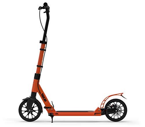 toucan -Scooter urbano premium para adultos con freno de mano, suspensión doble y altura ajustable   Patinete plegable con ruedas grandes de 200 m para adolescentes, niños a partir de 8 años