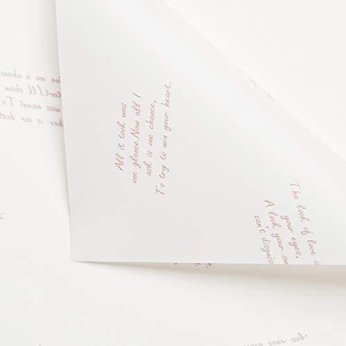Papierrollen Doorschijnend Mat Papier, Waterdicht Festival Geschenkverpakking Letter afdrukken Boeket Inpakpapier, 58 * 58CM LiuJF 58 * 58CM