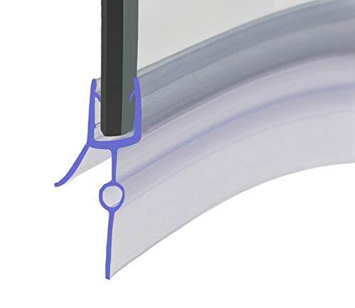 HNNHOME870 mm vorgebogener Gummi-Kunststoff-Dichtungsstreifen, perfekt für 4–6 mm gebogene oder gerade Glastüren, 16–22 mm Lücke