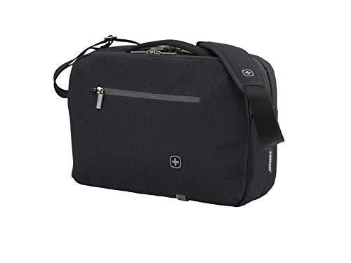 Wenger 602821 CityStep Laptop Slimcase, gepolsterte Laptopfach mit iPad/Tablet / eReader Tasche in schwarz