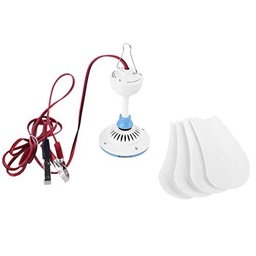 Ventilador de techo silencioso para el hogar Ventilador de techo portátil de 12 V 16 '/31.5' Colgante de ventilador de campaña para camping para cama al aire libre hogar Flexibilidad viento fuerte más