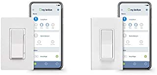 Leviton DW1KD-1BZ Decora Smart Wi-Fi 1000W Incandescent/450W LED Dimmer, No Hub Required, Works with Alexa, Google Assistant and Nest AND Decora Smart Wi-Fi, Universal LED/Incandescent Switch, White