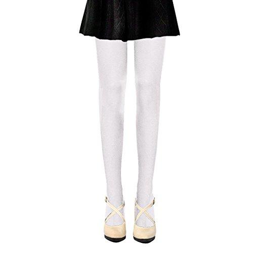PrettyLoveHose Collants Voile Opaques 50 Deniers, Blanc, Taille Unique T1 à T3 (36-38-40)