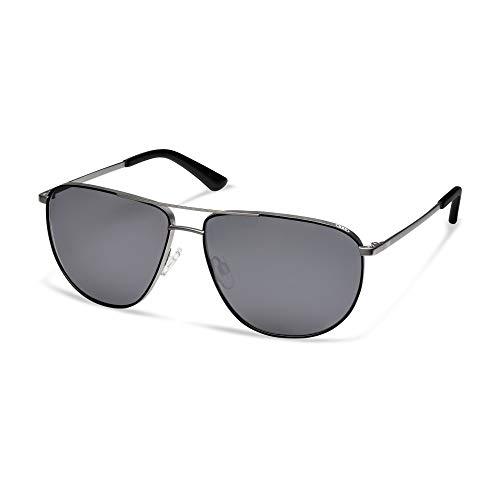 Audi 3112000100 Sport Sonnenbrille Metall Brille, Gun Metal