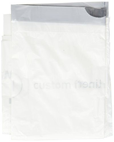 simplehuman Code N Custom Fit Drawstring Trash Bags, 45-50 Liter / 12-13 Gallon, White, 200 Count