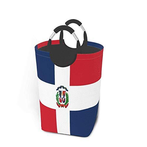 NA Bandera de la República Dominicana Paquete de Ropa Sucia 50l Cesto de lavandería Cesto de lavandería Impermeable con Asas Bolsa de lavandería Delgada y Plegable para lavandería Hogar Dormitorio