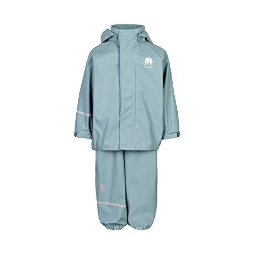 Celavi Boys Basic Rainwear Set Rain Jacket, Smoke Blue, 70