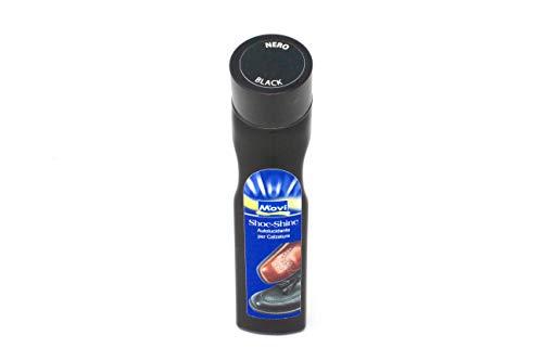 MOVI SHOE-SHINE - Autolucidante liquido con applicatore per calzature. Lucidante e nutriente per scarpe in pelle/cuoio - 75ml