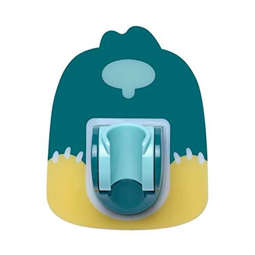 JJZXD Sin ponche Adhesivo Baño Ducha Ajustable Base del sostenedor de la Cabeza del Soporte del Adhesivo Ajustable Fácil de Instalar (Color : A)
