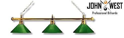 John West Billardlampe Leuchte Messing/Grün