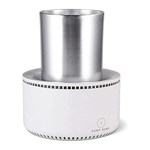 UKKD Mini taza de enfriador portátil para el hogar, mini refrigerador de escritorio taza de enfriamiento rápido de la bebida con refrigerador del enfriador de refrigerador para el agua de la cerveza d