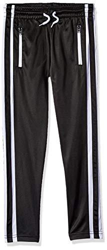 Southpole - Kids Boys' Big Track Pants, Black Reversed Zipper, Large