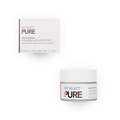 Regenerierende Hyaluron Gesichtscreme - Anti-Aging Nachtpflege für sehr trockene und pflegebedürftige Haut - M1 SELECT PURE NIGHT CREAM 50 ml