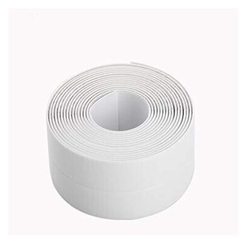 HYCSP Küche Selbstklebende Tapete Border Band Wasserdicht Weiß Mildewproof Sealing Dichtungsstreifen Mosaik Wand-Dekor-Aufkleber (Color : White, Size : 3.2m X3.8cm)