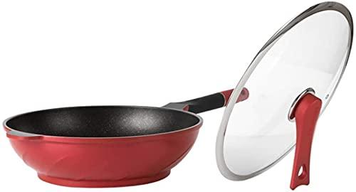 Wok Freír la sartén para cocinar, la bandeja antiadherente, la bandeja no recubierta, la bandeja sin humo, la estufa de gas doble Sartén antiadherente (Color : A, Size : 32cm)