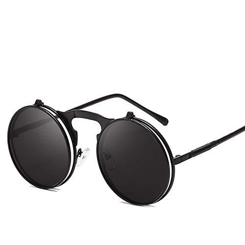 Gafas de Sol Sunglasses Flip Round Gafas De Sol Hombres Mujeres Metal Steampunk Gafas De Sol Uv400 1