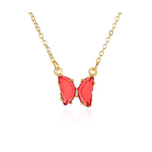BSbattle Collar con colgante de mariposa para mujer, estilo callejero coreano, joyería de regalo