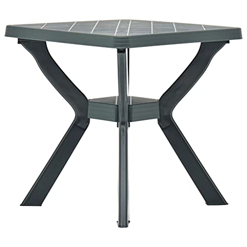 vidaXL Bistro Table Outdoor Patio Terrace Stand Furniture Green 70x70x72cm Plastic