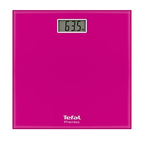 Tefal PP1063V0 Báscula personal electrónica Plaza Rosa - Báscula de baño (Báscula personal electrónica, 150 kg, 100 g, kg, lb, ST, Plaza, Rosa)