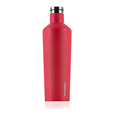 Corkcicle Canteen Collection-Water Bottle & Thermos-Triple Insulated Shatterproof Stainless Steel, 25 oz, Waterman Off Red