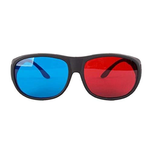Rot-Blau 3D-Brille Cyan Anaglyphen einfache Art-3D-Brille Stereo Movie Game-Extra Upgrade-Stil für Männer Frauen