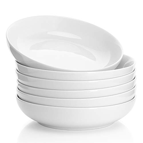 Sweese Salad/Pasta Bowls - Set of 6, White