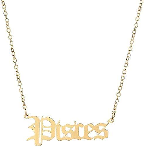Collar 12 Constelación Horóscopo Astrología Zodiaco Collar Mujeres Plata Carta Collar Hombres Niñas Regalo