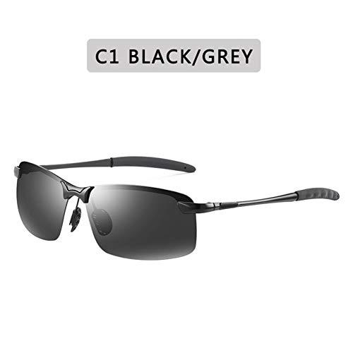 Burenqi@ Gafas De Sol Fotocrómicas Polarizadas Hombres Rectángulo De Conducción Camaleón Cambiar Color Gafas De Sol Día Visión Nocturna Gafas Antideslumbrantes