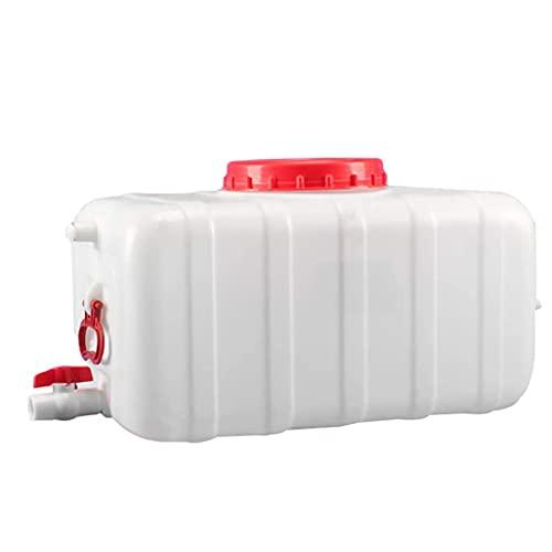 Contenedor De Almacenamiento De Agua Para Acampar Al Aire Libre Tanque De Agua Horizontal De Grado Alimenticio Para El Hogar Cubo Portátil De Gran Capacidad Con Tapa | -20 ° C A 70 ° C | Bl(Size:80L)