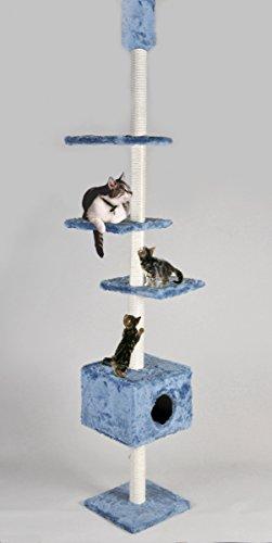 Cat Dream Katzen-Kratzbaum raumhoch, blau
