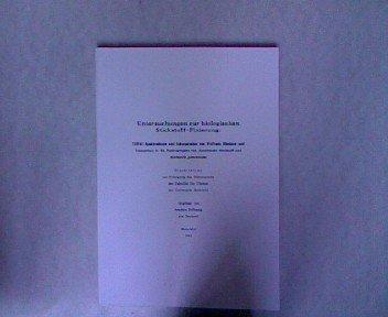 Untersuchungen zur Biologischen Stickstoff-Fixierung. Dissertation.