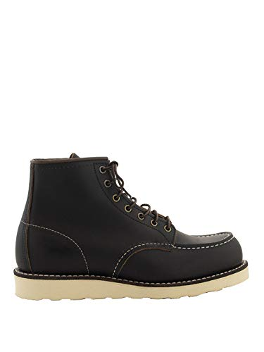 Red Wing Shoes Leather Army Ankle Boots, 8 Black
