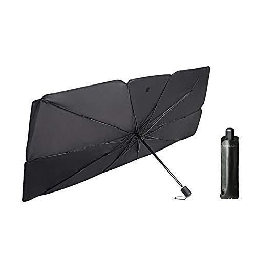 MEROURII Auto Sonnenschutz für Windschutzscheibe,Faltbarer Frontscheibe UV Schutz Regenschirm Sonnenschirm Universal,142 * 79cm,für die meisten Autos, SUVs und LKWs