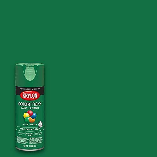 Krylon K05517007 COLORmaxx Spray Paint, Aerosol, Emerald Green