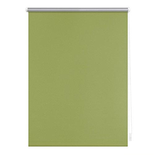 Lichtblick RKV.060.150.06 Thermo-Rollo Klemmfix, ohne Bohren, Verdunkelung Grün, 60 cm x 150 cm (B x L)