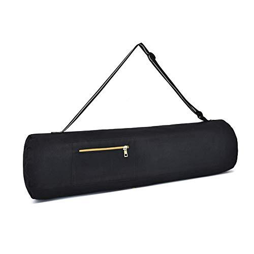 Yogistar - Funda para esterilla de yoga (80 x 23 cm, con cremallera, correa de hombro), color negro
