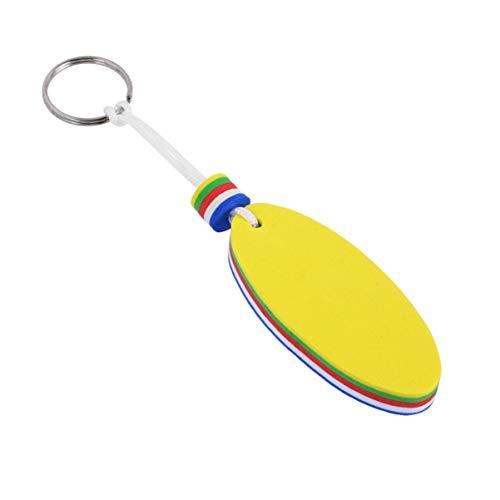 Cabilock 4 Stück Schwimmender Schlüsselbund Ovale Form Anhänger Schlüsselring Anti Lost Surfing Segeln Schlüsselbund Tasche Geldbörse Hängen Anhänger Charme für Frauen Männer