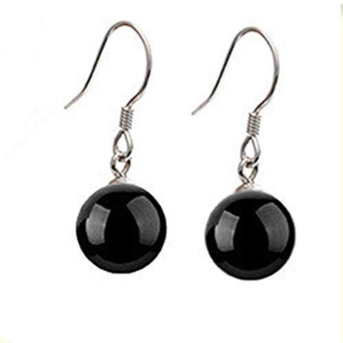 Earrings Women Studs 925 Sterling Silver Black Zircon Earrings Fashion Jewelry For Women