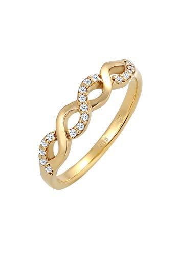 DIAMORE Ring Damen Infinity mit Diamant (0.18 ct.) Liebe in 585 Gelbgold