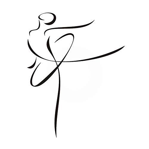 Ballerina wiederverwendbare Schablone A3 A4 A5 & größere Größen Modern Style Damen 42, Widerverwendbare PVC-Schablone, A5 size - 148 x 210 mm, 5.8 x 8.3 in