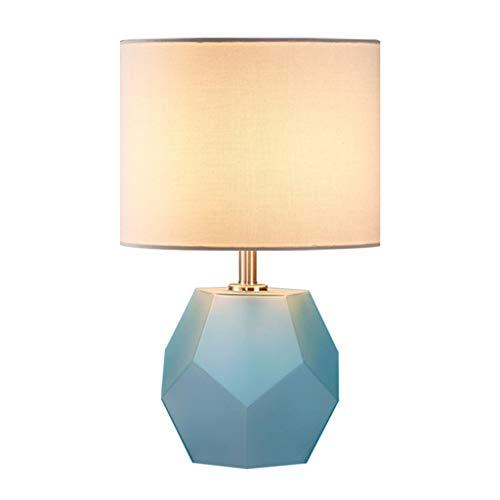 Lámpara de Mesita de Noche Titular dormitorio lámpara de cabecera simple tabla moderna lámpara de cristal de la lámpara geométrica pantalla de la tela for la habitación de estar Sala de Estudio Lámpar