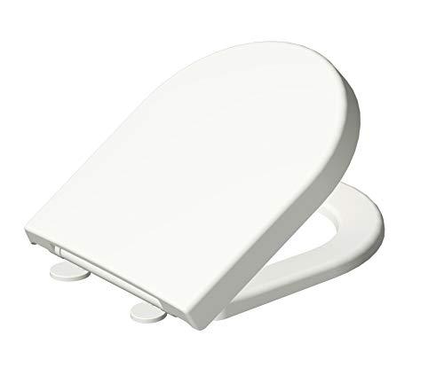 Grünblatt WC Sitz passend zu Villeory & Boch Subway Absenkautomatik und abnehmbar zur Reinigung, Hochwertiges Material Duroplast, weiß (passend zu Subway 2.0 SupraFix Befestigung)