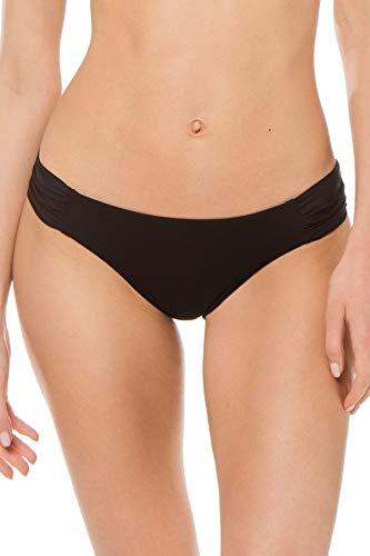 Becca by Rebecca Virtue Women's Tab Side Hipster Bikini Bottom Black M